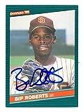 Bip Roberts autographed Baseball Card (San Diego Padres) 1986 Donruss #33 - Autographed Baseball Cards
