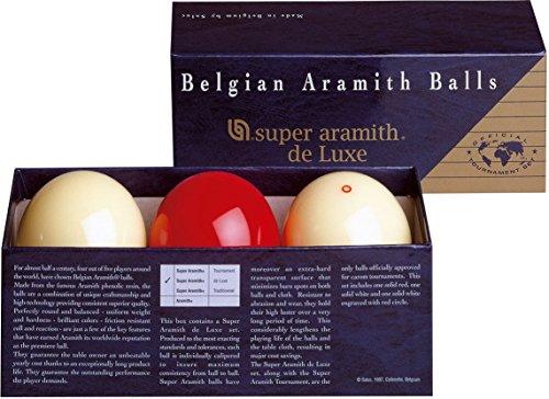Aramith 61.5 mm Super Armith Deluxe Carom/Carambole Billiard/Pool Balls, Complete 3 Ball Set