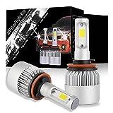 h11 cree led headlight bulb - DJI 4X4 H11 LED Headlight Bulbs Conversion Kit, H8 H9 Led Headlamp Car Bulbs, CREE Chips 100W 10000 Lumen 6000K Cool White - 1 Pair