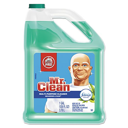 Mr Clean Liquid All Purpose Cleaner Home Pro with Febreze Meadows and Rain 128 Oz(Pack of 4)