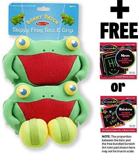 【人気商品!】 Skippy [66839] Frog Toss & Scratch Grip Action Game: Mini-Pad Sunny Patch Outdoor Play Series + FREE Melissa & Doug Scratch Art Mini-Pad Bundle [66839] [並行輸入品] B01K1UN0SC, きもの屋 ゆめこもん:1ceb15f6 --- clubavenue.eu