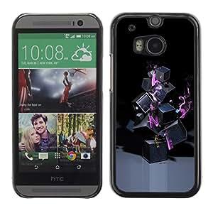 TopCaseStore / la caja del caucho duro de la cubierta de protección de la piel - Abstract Lonely - HTC One M8
