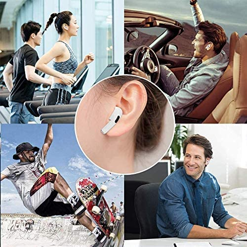Wireless Earbuds Bluetooth Headphones with Charging Case IPX5 Waterproof Sports Headphones with Built-in Mic, Press Control Bluetooth Earbuds Suitable for Apple Airpods Pro/iPhone/Android
