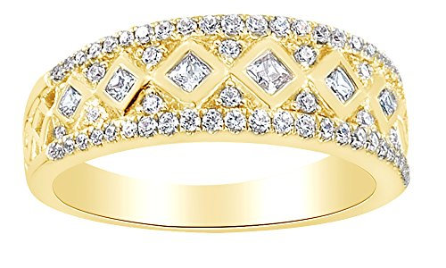 Band Anniversary Etruscan - Round Shape White Diamond Etruscan Anniversary Band Ring In 14K Solid Gold, Ring Size-4