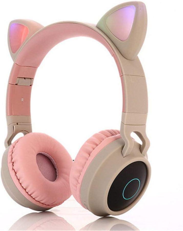 OPXZOM Auriculares inalámbricos Cute Cat Ear Bluetooth 5.0 ...