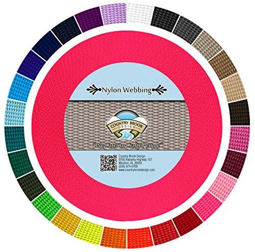 Country Brook Design - Hot Pink 5/8 Inch Heavy Nylon Webbing (20 Yards)
