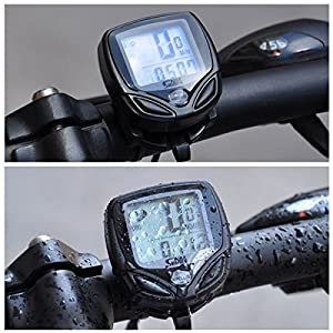 Waterproof Wireless LCD Digital Cycle Bike Computer Bicycle Speedometer Odometer by USA_Best_Seller