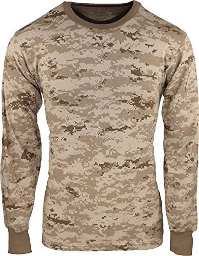 "Army Universe Desert Digital Camouflage Long Sleeve Military T-Shirt Pin - Size X-Large (45""-49"")"