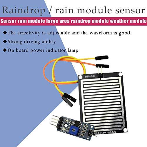 Comidox 4PCS Raindrop Detection Sensor Module Humidity Rain ... on