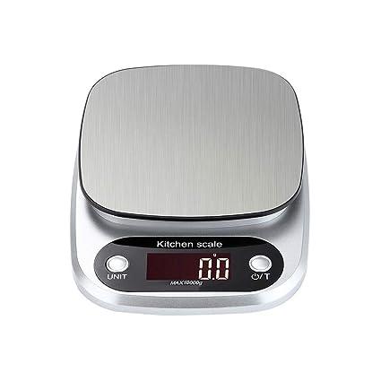 Vosarea Báscula de Cocina Digital LCD Cocina de Acero Inoxidable Multifuncional Escala 10 kg