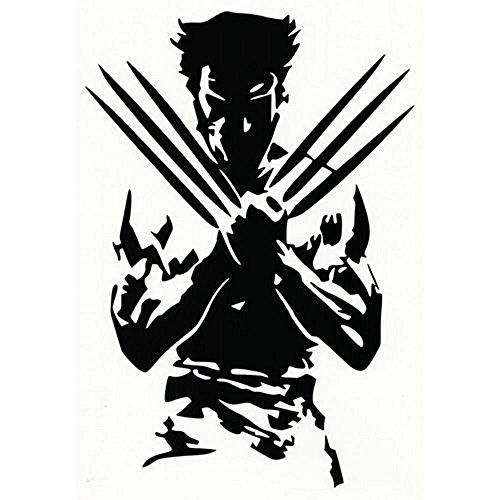 Marvel Comics X-Men Logan Wolverine, White, 6 Inch, Die Cut Vinyl Decal, For Windows, Cars, Trucks, Toolbox, Laptops, Macbook-virtually Any Hard Smooth Surface