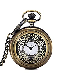 Pocket Watches for Men with Chains Digital Pocket Watch Vintage As Xmas, Brass