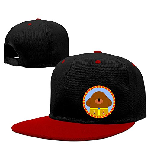 hey-duggee-unisex-100-cotton-red-adjustable-snapback-trucker-hat-one-size