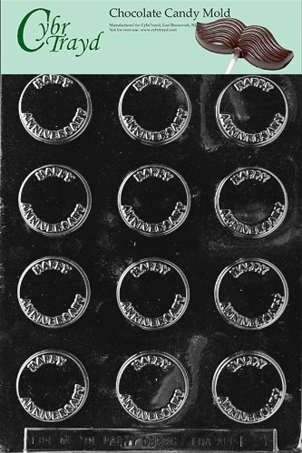 Cybrtrayd L021 Letters and Numbers Chocolate Candy Mold, Happy Anniversary Mint - Anniversary Mint Chocolate