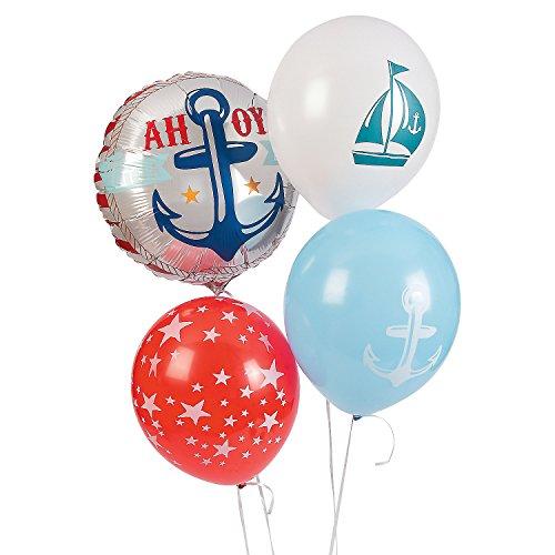 Nautical Baby Shower Balloon Set Assortment for $<!--$10.64-->