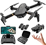 XFTOPSE V4 Drone com Câmera, Mini Drone Profissional 4K HD com 2.4G WIFI FPV Vídeo ao Vivo, Tempo de Vôo de 20