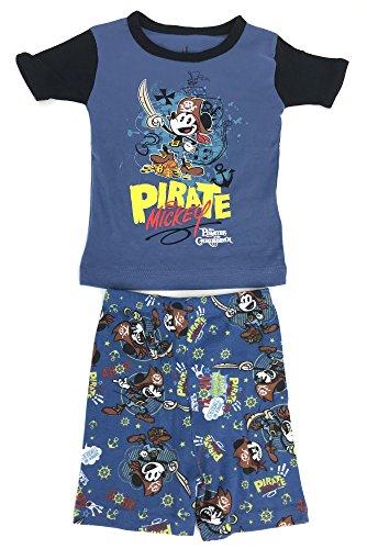 DisneyParks Pirate Mickey Mouse Pajama Set Boys Pirates of The Caribbean ()