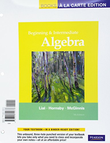 Top 3 textbook rentals beginning algebra