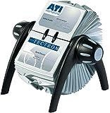 Durable 241701 Visifix Flip Fichier Rotatif pour 400 Cartes de Visite avec Index 25 Touches Noir/Gris