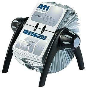 Durable Visifix Flip Vegas - Rollo rotador de tarjetas 215 x 120 x 185 mm, color negro