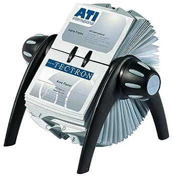 Durable 241701 Visifix Flip Fichier Rotatif Pour 400 Cartes De Visite Avec Index Alphabetique 25 Touches
