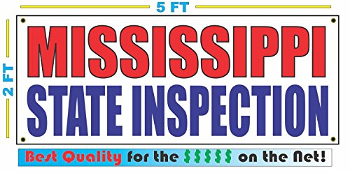 MISSISSIPPI STATE INSPECTION All Weather Full Color Banner - Mississippi Outlets