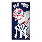 MLB New York Yankees Emblem Beach Towel, 28 x 58-Inch
