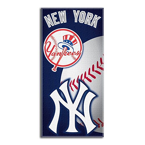 The Northwest Company MLB New York Yankees Emblem Beach Towel, 28 x 58-Inch