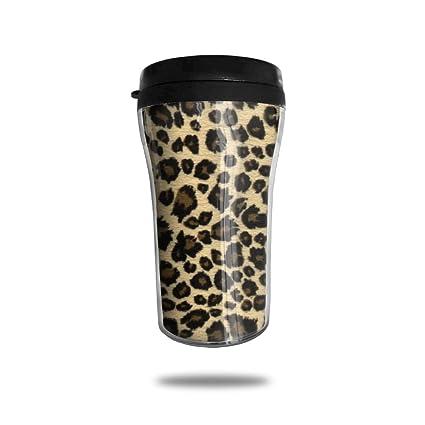 76051d7884b FTRGRAFE Animal Leopard Print Design Travel Coffee Mug 3D Printed Portable  Vacuum Cup,Insulated Tea