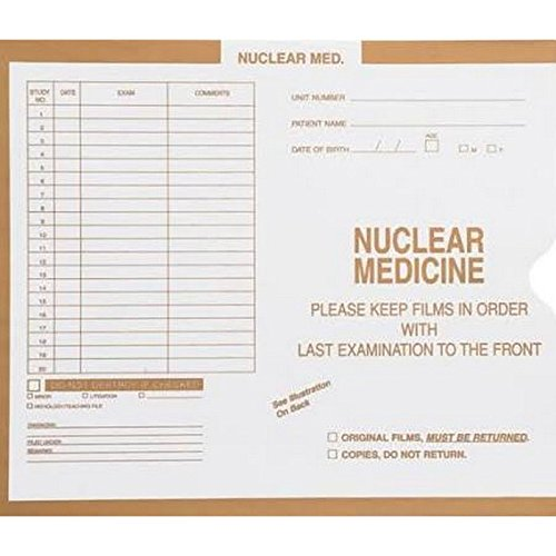 Nuclear Med., Manila - Category Insert Jackets, System II, Open End - 14-1/4'' x 17-1/2'' (Carton of 250)