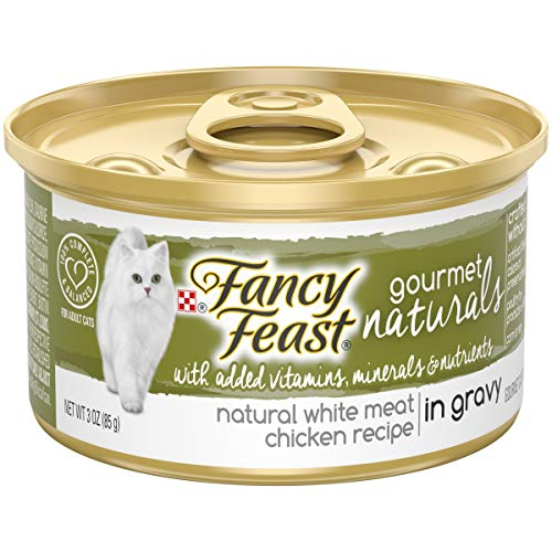 (Purina Fancy Feast Natural Wet Cat Food; Gourmet Naturals White Meat Chicken Recipe in Gravy - 3 oz. Can (Pack of 12) )