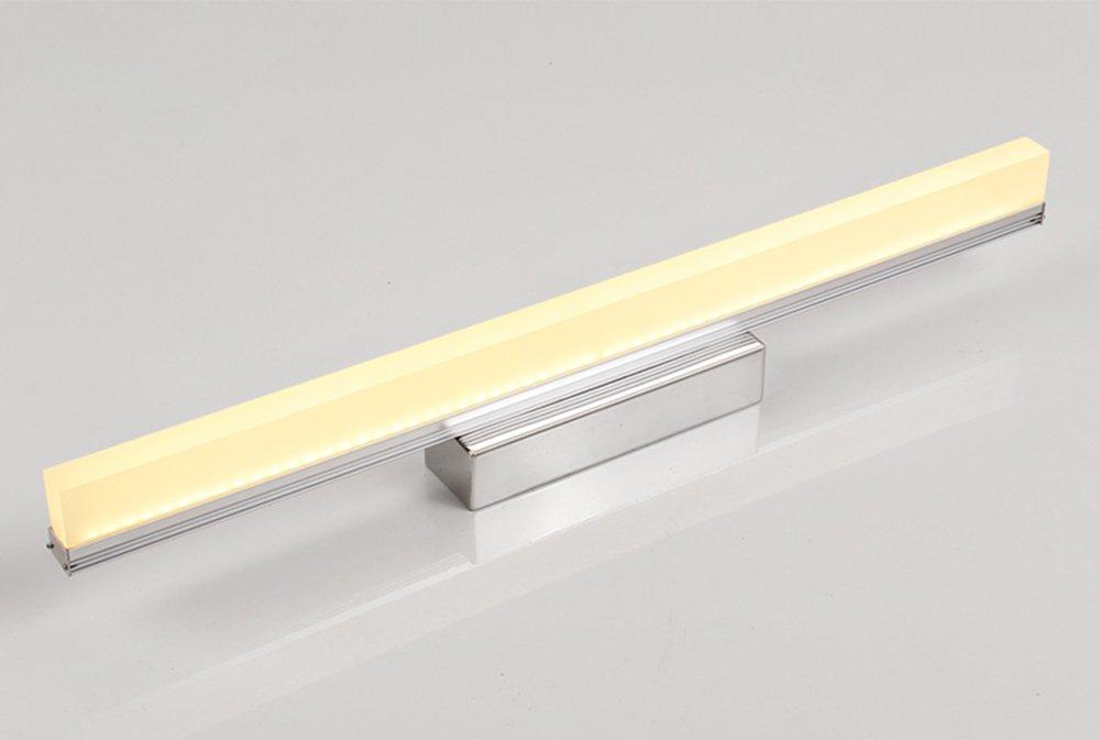 KTYX LED Spiegelleuchte einfache Badezimmer wasserdichte Anti-Fog Wandlampe schönes Badezimmer Spiegelschrank Spiegelleuchte Spiegel Frontlicht (Farbe   Warmes Licht-90cm)