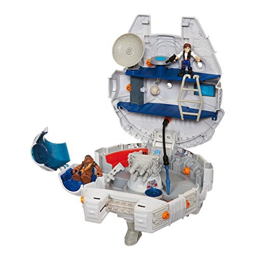 Jedi Force Millenium Falcon with Han Solo and Chewbacca by Star Wars (Image #2)