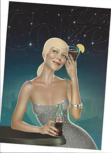 NT For Coca Cola Coke 2008 Illustrated Girl In Silver Dress (Coca Cola Magazine)
