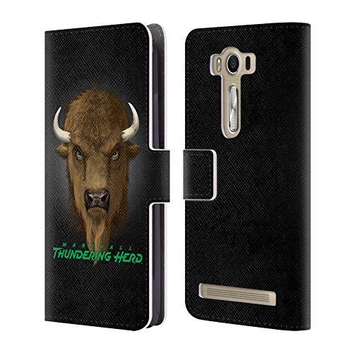 (Official Vincent HIE Marshall University Collegiate Varsity Leather Book Wallet Case Cover Compatible for Zenfone 2 Laser ZE500)