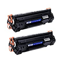2 Pack CE285A Compatible for HP 85A Black Laserjet Toner Cartridge Use with Pro P1005 P1006 P1102W M1212NF Printer