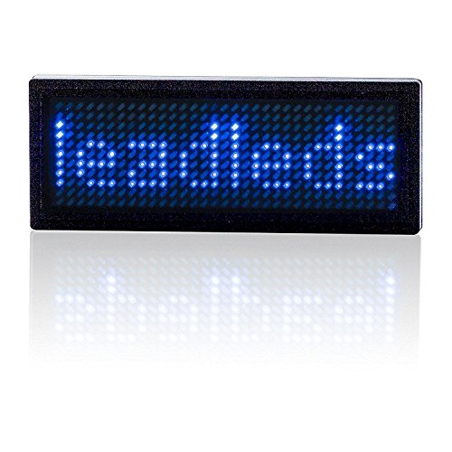 Leadleds Led Name Tag, USB Programmable Scrolling Message...