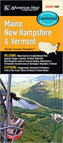 Maine New Hampshire Vermont State Laminated Map Kappa Map Group 9780762580088 Amazon Com Books