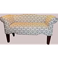 Black and White Madison Design Vanity Bedroom Settee Bench