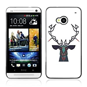 YOYOSHOP [Hipster Design Moose ] HTC One M7 Case by rushername