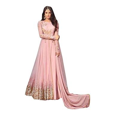 791618b5935 Amazon.com  Bollywood Wedding Ceremony Long Anarkali Salwar Suit Muslim  Bridal Gown Dress Ethnic 765  Clothing