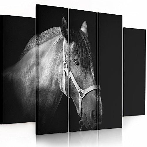 Feeby frames tableau multi panneau 5 parties tableau - Tableaux noir et blanc ...
