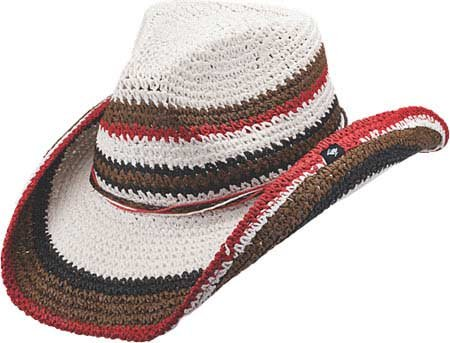 f2ce3d05ba9 Peter Grimm Ltd Women s Amal Striped Cowgirl Hat White One Size at ...