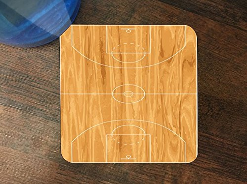 Basketball Court Silicone Drink Beverage Coaster 4 Pack