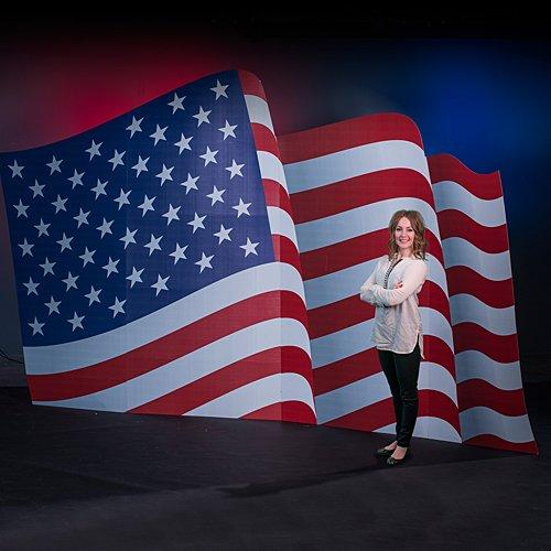 American Flag Standee Standup Photo Booth Prop Background Backdrop Party Decoration Decor Scene Setter Cardboard Cutout ()