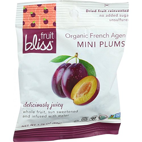 Fruit Bliss Organic Mini French Agen Dried Plums, 1.76 oz