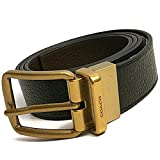 Coach Wide Hardness Cut-To-Size Reversible Pebble Leather Belt (Black/Brown)