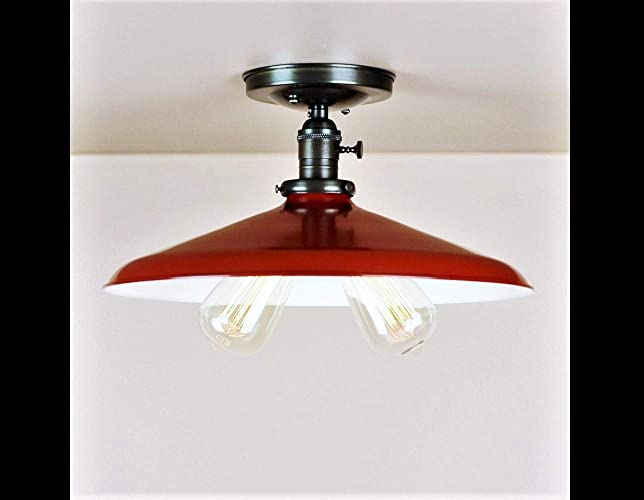 Amazon Com Red Kitchen Light Vintage Twin Bulb Ceiling