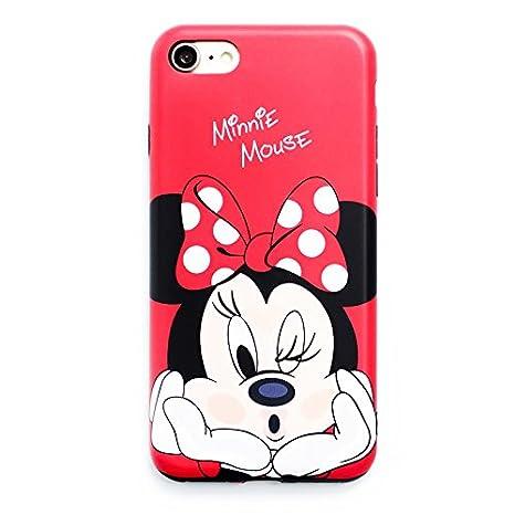 Minnie Rosso Custodia Per Iphone7 8 Personaggi Dei Cartoni