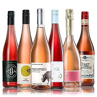 GEILE WEINE Weinpaket ROSE (6 x 0,75) Roséwein trocken im Probierpaket von Qualitätswinzern aus Deutschland